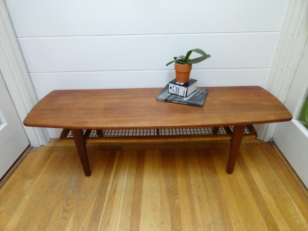 I refinished this Mid Century Danish coffee table!