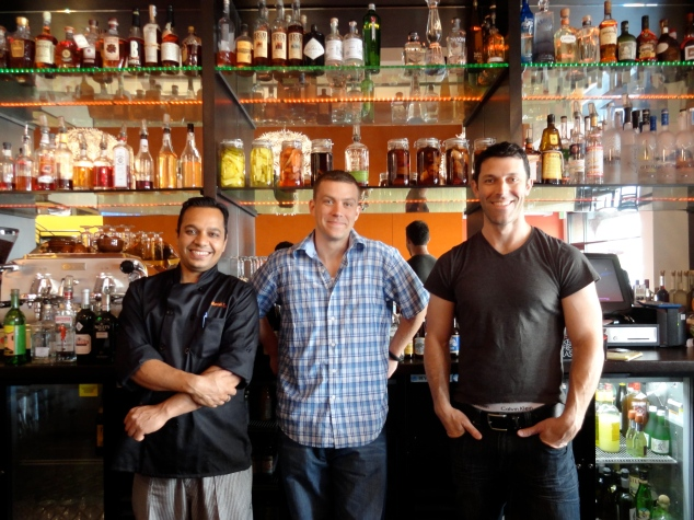 From left to right: Chef Manish Tyagi, Ryan Ingram, John Harris