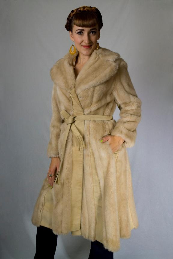 Faux Fur and Suede Coat (sz 2 4 6)